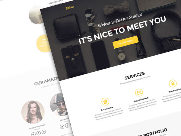 Golden responsive mobile first website